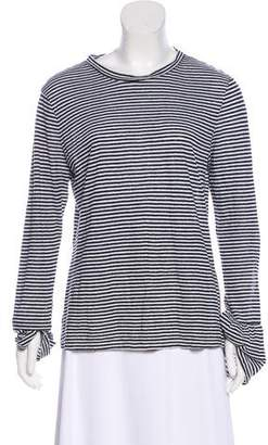 Frame Long Sleeve Striped Top