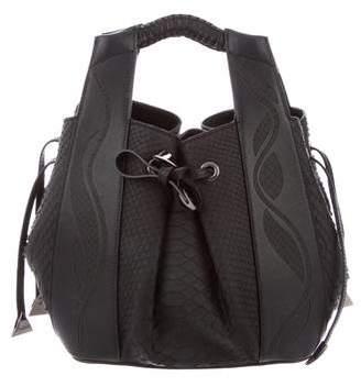Nada Sawaya Python Small Leah Bucket Bag