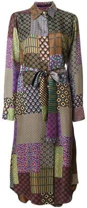 Maurizio Pecoraro patchwork print shirt dress