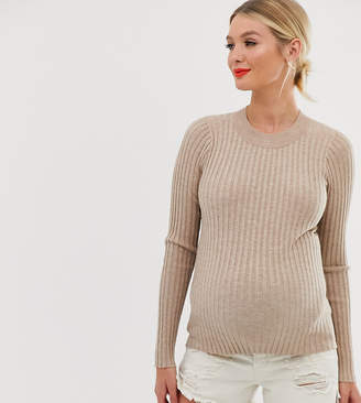 Asos DESIGN Maternity crew neck jumper in skinny rib