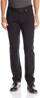 Vince Camuto Men's 5 Pocket Stretch Pant, Navy Crosshatch