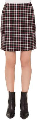 Akris Punto Checked Miniskirt