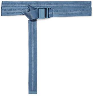 Off-White Canvas-jacquard Belt - Light blue