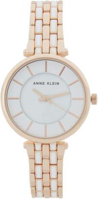 Anne Klein AK2910 Rose Gold-Tone & White Watch