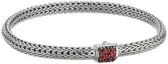 John Hardy Classic Chain 5mm Bracelet with Red Saphhire Bracelet