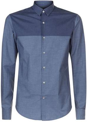 Emporio Armani Two Tone Chambray Shirt