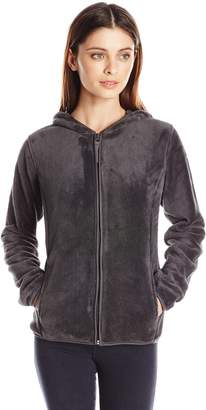 Jason Maxwell Women's Petite Full Zip Hooded Fleece Jacket