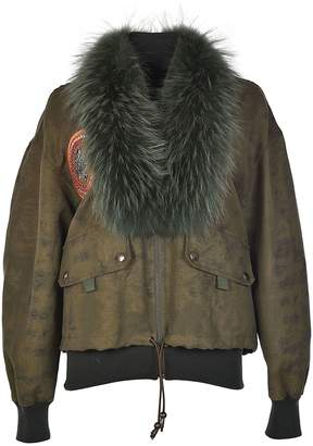 Mr & Mrs Italy Fur Collar Bomber Jacket