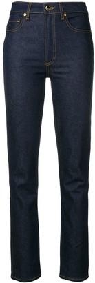 KHAITE high rise regular jeans