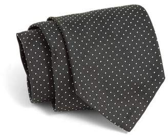 Todd Snyder Hand-Finished Silk Tie in Olive Pindot