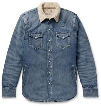 Polo Ralph Lauren Sherpa-lined Denim Western Shirt Jacket - Mid denim