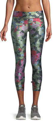 Terez Tall Band Camo Printed Capri Leggings