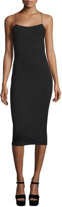 Alexander Wang Strappy Stretch Midi Dress, Black