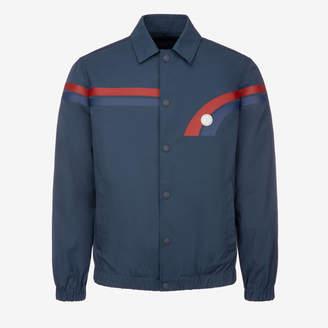 Bally Cotton Canvas Blouson Jacket Blue, Men's cotton canvas jacket in navy