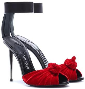 Tom Ford Velvet and leather sandals