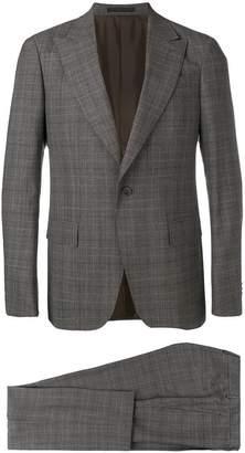 Ermenegildo Zegna tartan pattern suit