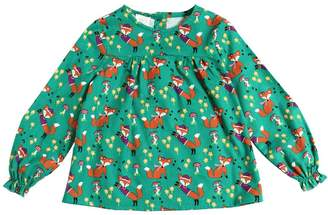 Fox Printed Cotton Flannel Top