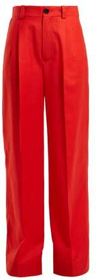 Kwaidan Editions - Annik Wide Leg Wool Trousers - Womens - Red