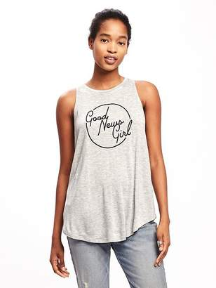 Graphic High-Neck Swing Tank for Women $16.94 thestylecure.com