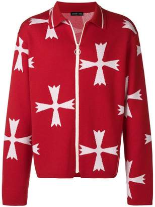 Riccardo Comi pattern zipped cardigan