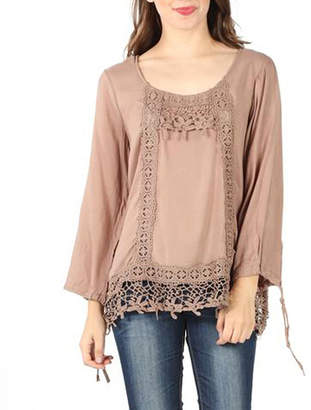 Asstd National Brand Crochet Trim Blouse