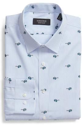 Nordstrom Trim Fit Sunglasses Print Dress Shirt