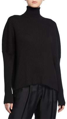 Sally LaPointe Cashmere-Silk Oversized Turtleneck Sweater