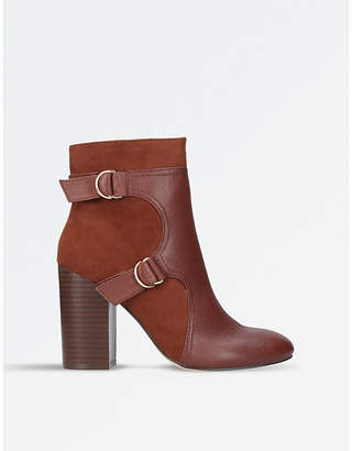 Nine West Brown Chipper Heeled Ankle Boots