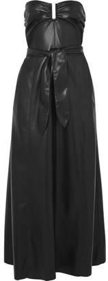Nanushka Anja Strapless Vegan Faux Leather Midi Dress