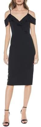 Bardot Raene Frill Neckline Sheath Dress