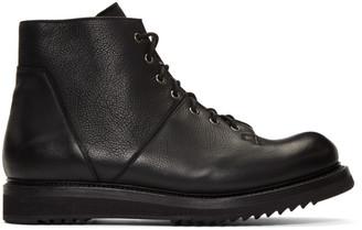 Rick Owens Black Monkey Creeper Sole Boots