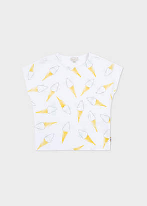 Paul Smith Girls' 2-6 Years White 'Ice Cream' Print T-Shirt