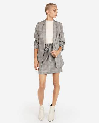 Express Plaid Boyfriend Blazer