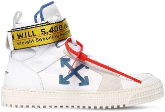 Off-White Industrial Leather High Top Sneakers