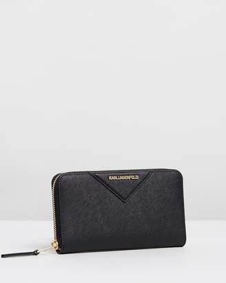 Karl Lagerfeld K/Klassik Zip Around Wallet