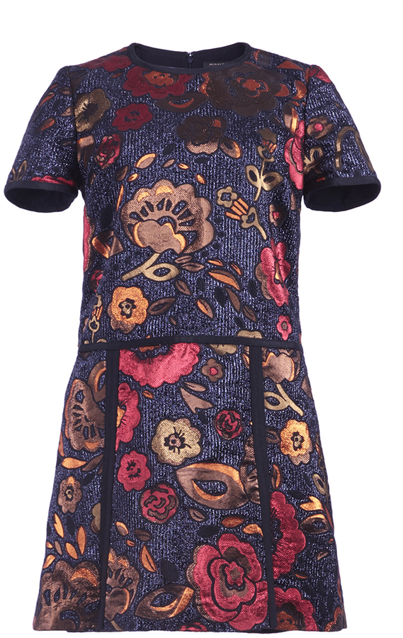 Burberry Burberry Floral Jacquard Shirt Dress