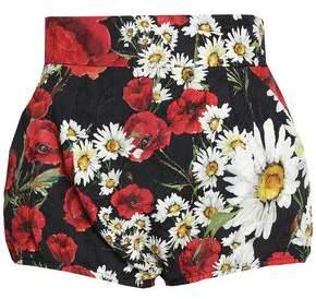 Dolce & Gabbana Floral-Print Cotton-Blend Jacquard Shorts