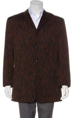 Gianni Versace Wool Animal Print Jacket