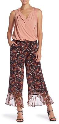 BCBGeneration Printed Ruffle Hem Culotte Pants
