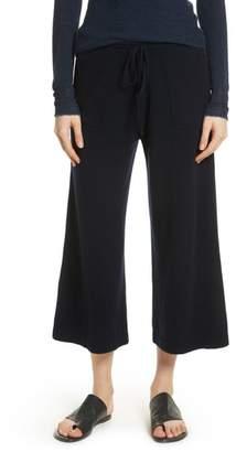 Vince Wide Leg Wool & Cashmere Knit Crop Pants