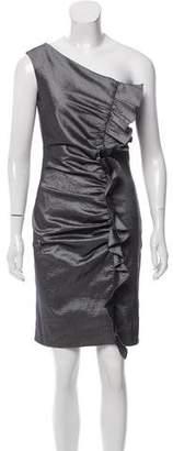 Andrew Marc One-Shoulder Mini Dress