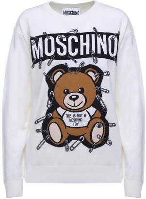 Moschino Safety Pin Teddy Virgin-wool Sweater