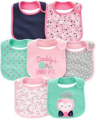Carter's Simple Joys by Baby Girls' 7-Pack Teething Bib