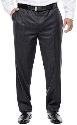 COLLECTION Collection by Michael Strahan Charcoal Windowpane Suit Pants - Big & Tall