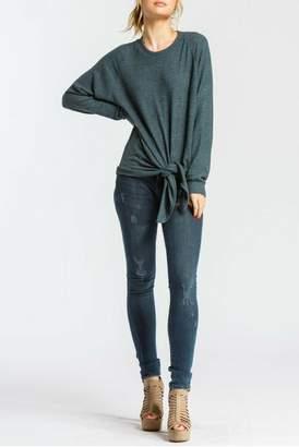 Cherish Steel Blue Long-Sleeve