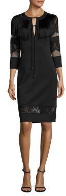 Tadashi Shoji Fringe Sheath Dress $350 thestylecure.com