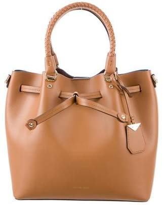 Michael Kors Smooth Leather Bucket Bag