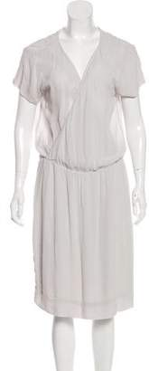 James Perse Short Sleeve Knee-Length Dress