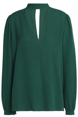 A.l.c. Woman Silk-crepe Top Forest Green Size 8 A.L.C. Buy Cheap Low Price Fee Shipping Finishline n5LsLT