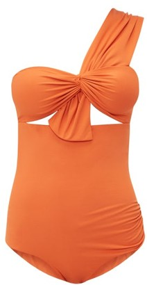 Marysia Swim Venice One Shoulder Cut Out Swimsuit - Womens - Orange